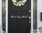 Script Front Door Number Decal • Custom Street Number on your Front Door House Address Number Door Decal Decor Made in USA