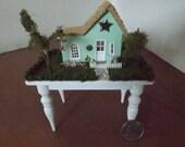 Miniature little Green Cottage