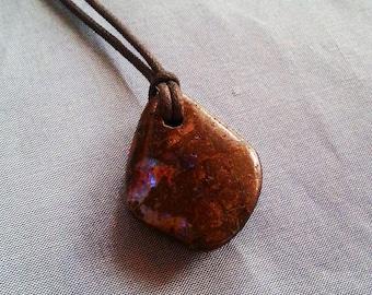 Natural Australian Boulder Opal pendant