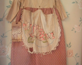 Primitive Pioneer Toddler Dress - Prairie Dress- grubby and grungy