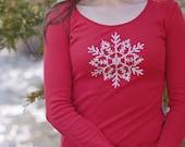 S and M - Christmas shirt. womens tees. womens tops. screenprinted t shirt. womens fashion. ladies clothes. womens t-shirts. soft shirt