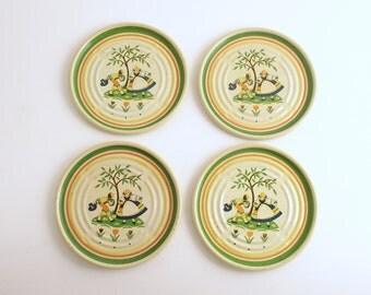 Vintage Metal Coasters Tulip Coasters Garden Party Barware