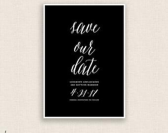 CLASSIC & CURSIVE - DIY Printable Wedding - Save the Date