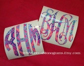 Behind the Gate Lilly Inspired Monogrammed Vinyl Decal