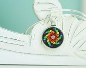 Somewhere over the Rainbow Bangle Bracelet -  Alex & Ani Inspired Style