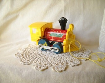 Vintage Toy Train Fisher Price Toy Train Pull Toy