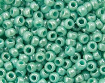 "Opaque Lustered Turquoise Toho Seed Bead 11/0 2.5"" Tube TR-11-132/C"