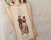Jane Austen Bookmarks Favor Tenderness of Heart Set of 10