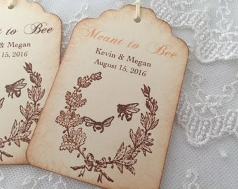 Honey Favor Tags Bee Wedding Gift Tags Set of 50