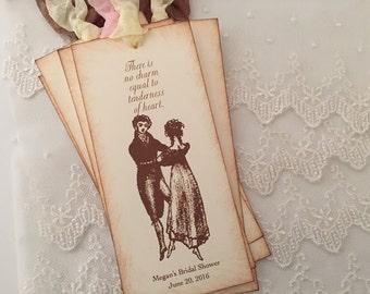 Jane Austen Bookmarks Bridal Shower Bookmark Favor Tenderness of Heart
