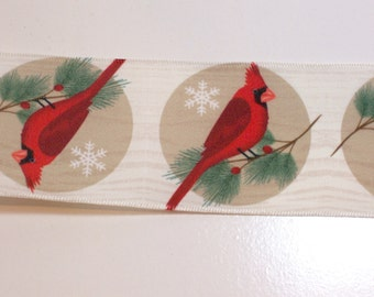 Red Cardinal Wired Ribbon 2 1/4 inches wide x 15 yards, Satin Backed Ribbon