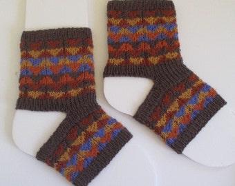 yoga socks, dance socks, exercise, pilates,fair isle, patterned, fall colors