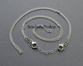 Adjustable Double Detachable Sterling Silver Cable Chain for Link Necklaces Mama Metal