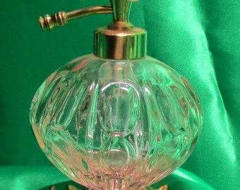 Vintage IRICE Pink Glass Perfume Bottle