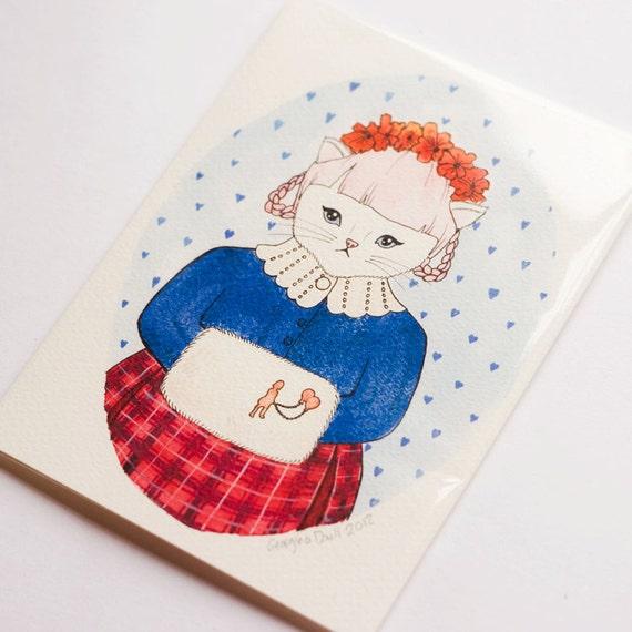Georgina Kitten Print