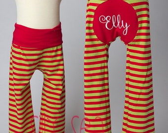 Yogaloones for Christmas, Personalized name bum lounge pants