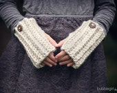Wheat Fingerless Gloves, Gloves, Arm Warmers