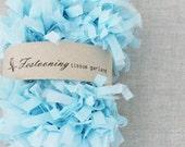 Wholesale 8 yard roll of Light Blue Tissue Garland Fringe Trim