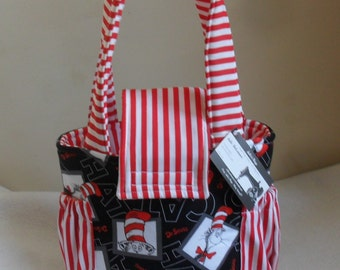 Small Cat in the Hat Toddler Short Trip Diaper Bag CHOICE OF INTERIOR