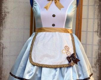 Lolita babydoll steampunk Alice in wonderland cosplay dress