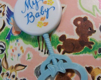 vintage my baby rattle
