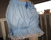 New Sequoia Baby blue white lace back frilled short bloomers pantaloons Lolita Fancy dress Party