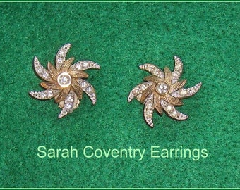 ON SALE  Sarah Coventry Vintage  Clip Earrings  Canada