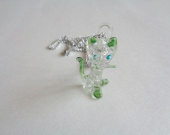 Blown Glass Cat Necklace
