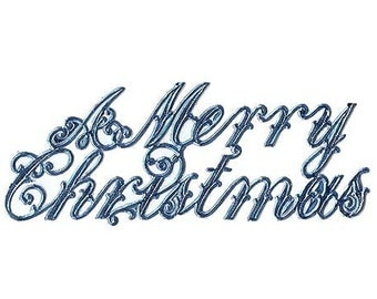 6 Dresden Trim Made In Germany Blue Script A Merry Christmas