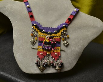 Mexican Worry Dolls Woven Necklace 750