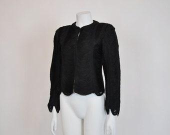 1960s jacket / Vintage 1960's Draping Fringe Jacket