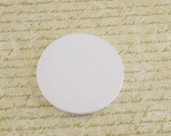 Three Inch Paper Die Cuts  3 inch  Circles  in  Snowy White Set of 25