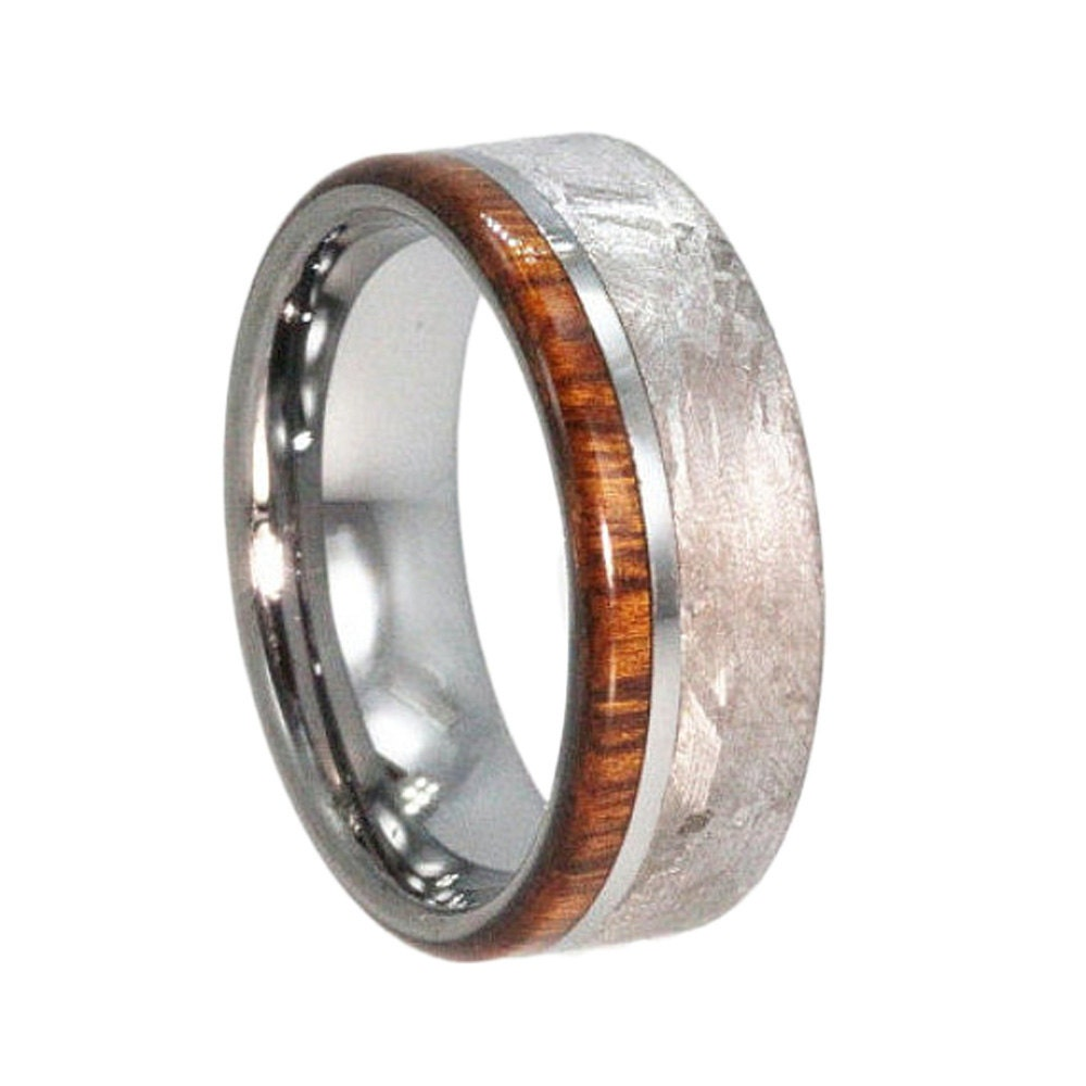 handmade mens rings handmade meteorite ring mens wood ring tungsten by 251