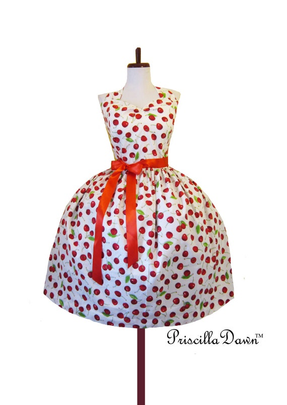 Dress Rockabilly Diva Styled Cupcake with Red Bow Custom in your size and measurements