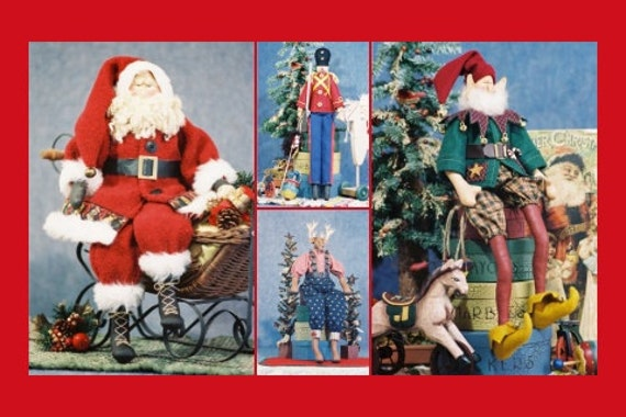 Cloth Doll E-Pattern Group Special Christmas Collection