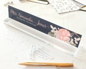 """Personalized Desk Nameplate """"Amanda"""" - Custom Name Plate Sign Decor - Office Accessories - Modern Office Supplies"""