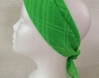 Vintage lime green rockabilly pin-up hair scarf