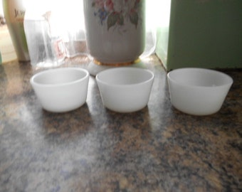 Lot of 3 milk glass white small bowls