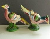 Vintage Mid Century Pheasant/Bird Salt and Pepper Shakers PY Miyao Japan