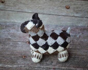 Sheep - hand spun - hand knit - wool sheep
