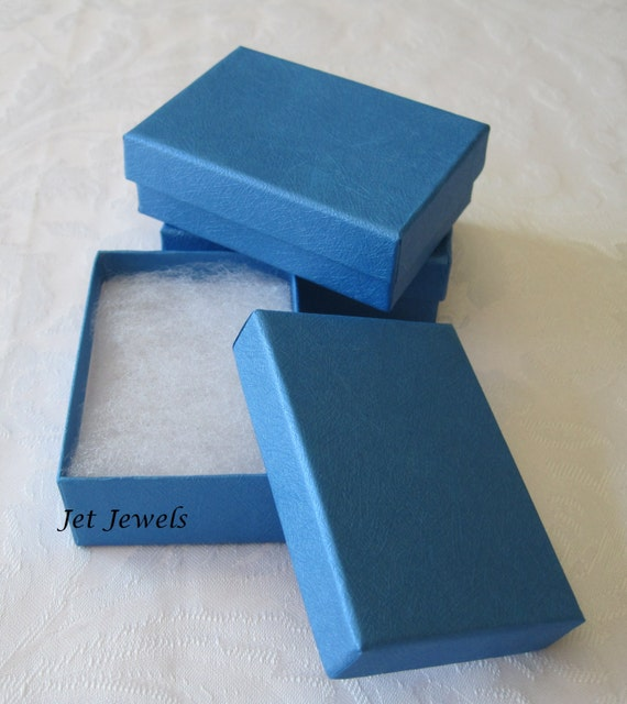 10 gift boxes jewelry gift boxes kraft boxes blue gift for Small cardboard jewelry boxes with lids
