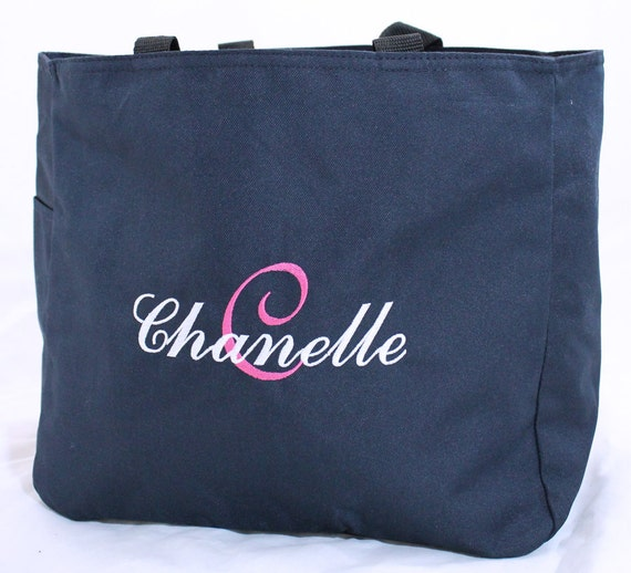Personalized Tote Bag Great Bridesmaids Gift with Layered Name & Initial
