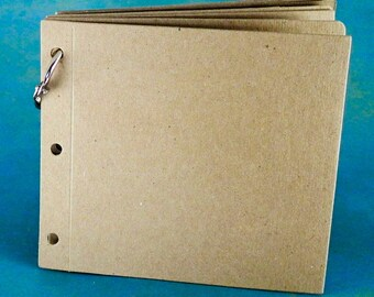 """4X4"""" Die Cut Album - 8 pieces - Chipboard Die Cut Scrapbook Album - .30 Chipboard Diecut Album"""