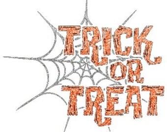 New Sweatshirt or Long Sleeve Tee Trick or Treat Womens Fall Halloween Costume Small 3XL FREE SHIPPING Pumpkin Plus Sizes Too Metallic New