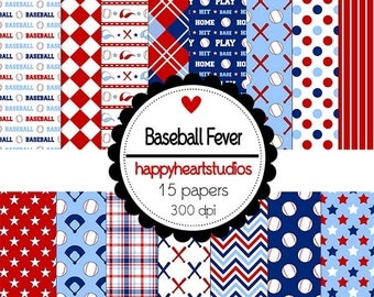 DigitalScrapbook-BaseBallFever-INSTANTDOWNLOAD
