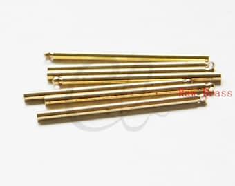 10pcs Raw Brass Long Round Bar - Stick 2x36mm (3046C-M-2)