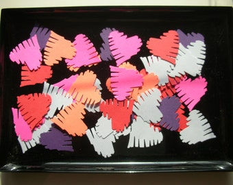 Assorted Heart Punchies, Confetti, Heart Die Cuts, Paper Punches, Valentines, Cardmaking Supplies, Wedding Favors, Scrapbook Supplies, Party
