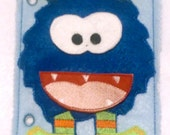 Blue build a monster quiet book page educational game busy bags quiet book #QB76