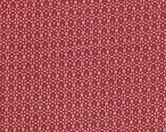 Blank Quilting Feedsack Tiny Floral in Red - Half Yard