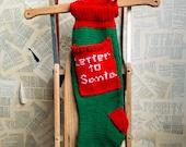 Letter to Santa Stocking, Christmas Stocking, Christmas Stocking Patterns, Christmas Stocking Design, Family Stockings, Christmas Knitting